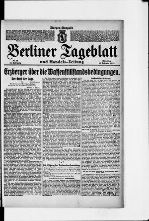 Berliner Tageblatt und Handels-Zeitung vom 18.02.1919