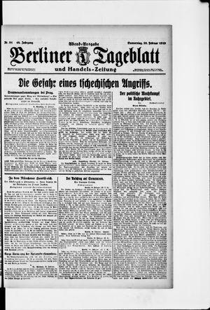 Berliner Tageblatt und Handels-Zeitung vom 20.02.1919