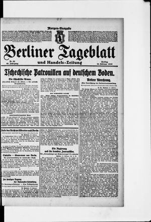 Berliner Tageblatt und Handels-Zeitung vom 21.02.1919