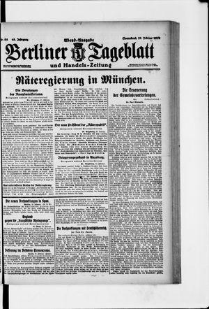 Berliner Tageblatt und Handels-Zeitung vom 22.02.1919