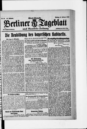 Berliner Tageblatt und Handels-Zeitung vom 24.02.1919
