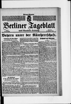 Berliner Tageblatt und Handels-Zeitung vom 25.02.1919