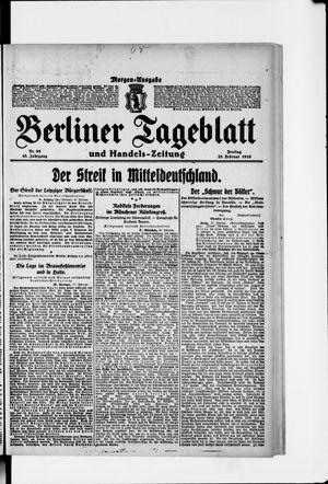 Berliner Tageblatt und Handels-Zeitung vom 28.02.1919
