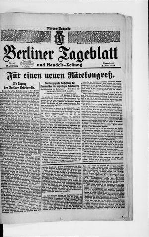 Berliner Tageblatt und Handels-Zeitung vom 01.03.1919