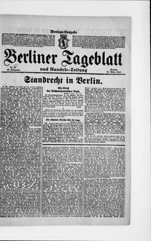 Berliner Tageblatt und Handels-Zeitung vom 10.03.1919
