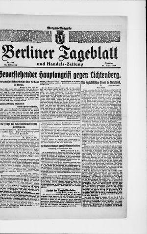 Berliner Tageblatt und Handels-Zeitung vom 11.03.1919