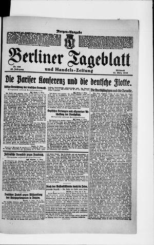 Berliner Tageblatt und Handels-Zeitung vom 12.03.1919