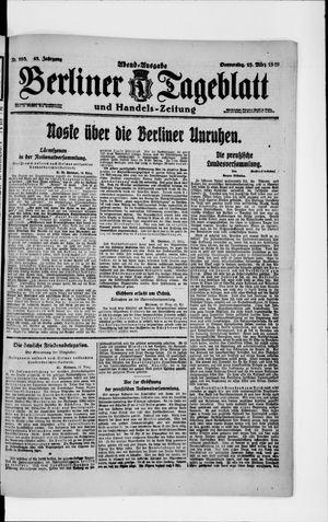 Berliner Tageblatt und Handels-Zeitung vom 13.03.1919