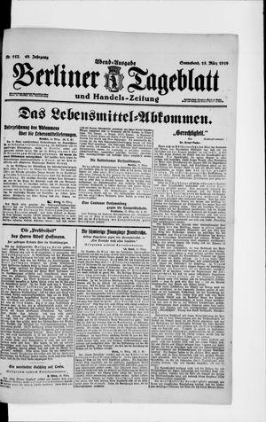 Berliner Tageblatt und Handels-Zeitung on Mar 15, 1919