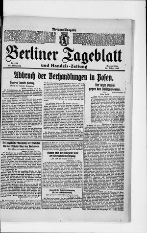 Berliner Tageblatt und Handels-Zeitung vom 20.03.1919