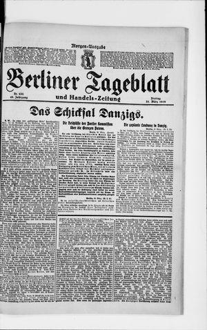 Berliner Tageblatt und Handels-Zeitung vom 21.03.1919