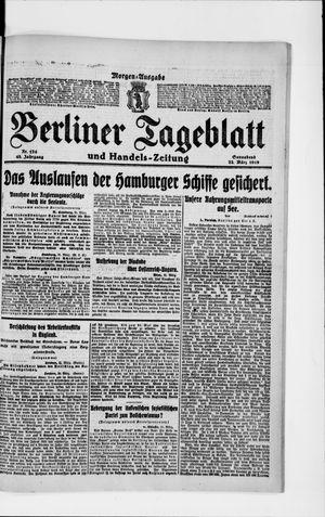 Berliner Tageblatt und Handels-Zeitung vom 22.03.1919