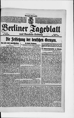 Berliner Tageblatt und Handels-Zeitung vom 23.03.1919