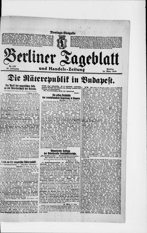 Berliner Tageblatt und Handels-Zeitung vom 24.03.1919