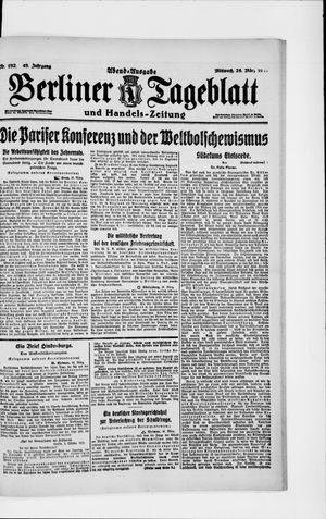 Berliner Tageblatt und Handels-Zeitung vom 26.03.1919