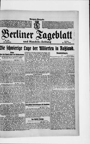 Berliner Tageblatt und Handels-Zeitung vom 28.03.1919