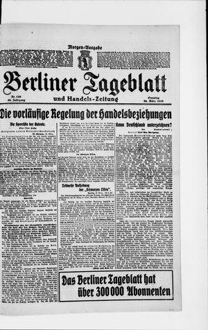 Berliner Tageblatt und Handels-Zeitung vom 30.03.1919