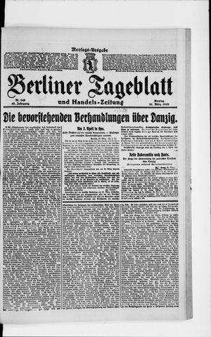 Berliner Tageblatt und Handels-Zeitung vom 31.03.1919