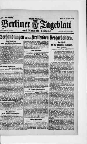 Berliner Tageblatt und Handels-Zeitung on Apr 2, 1919