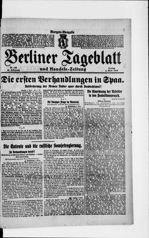 Berliner Tageblatt und Handels-Zeitung on Apr 4, 1919