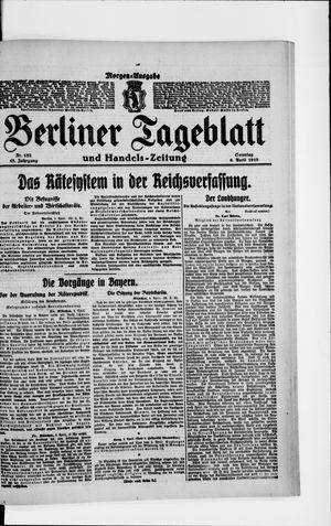 Berliner Tageblatt und Handels-Zeitung vom 06.04.1919