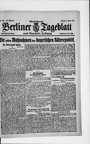 Berliner Tageblatt und Handels-Zeitung vom 07.04.1919