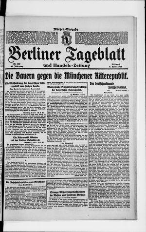 Berliner Tageblatt und Handels-Zeitung vom 09.04.1919