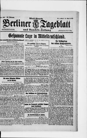 Berliner Tageblatt und Handels-Zeitung vom 12.04.1919