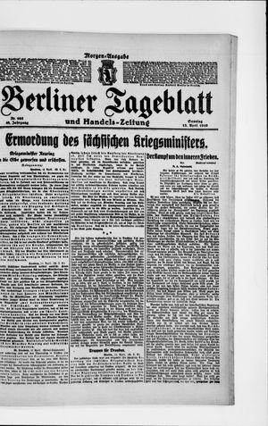 Berliner Tageblatt und Handels-Zeitung vom 13.04.1919
