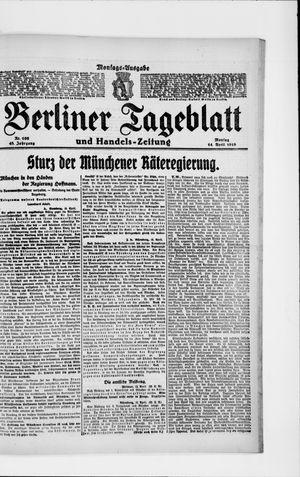 Berliner Tageblatt und Handels-Zeitung vom 14.04.1919