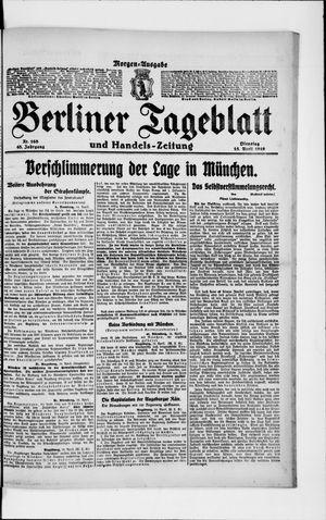 Berliner Tageblatt und Handels-Zeitung vom 15.04.1919