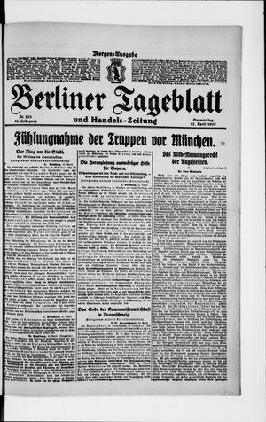 Berliner Tageblatt und Handels-Zeitung vom 17.04.1919