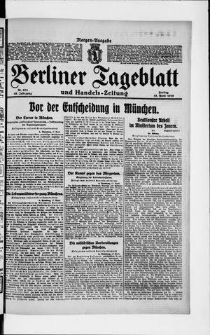 Berliner Tageblatt und Handels-Zeitung vom 18.04.1919