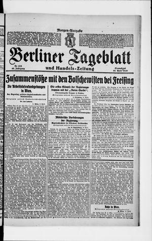 Berliner Tageblatt und Handels-Zeitung on Apr 19, 1919