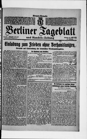 Berliner Tageblatt und Handels-Zeitung vom 20.04.1919