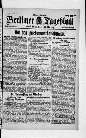 Berliner Tageblatt und Handels-Zeitung vom 22.04.1919