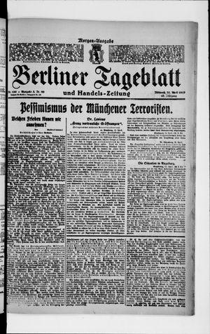 Berliner Tageblatt und Handels-Zeitung vom 23.04.1919
