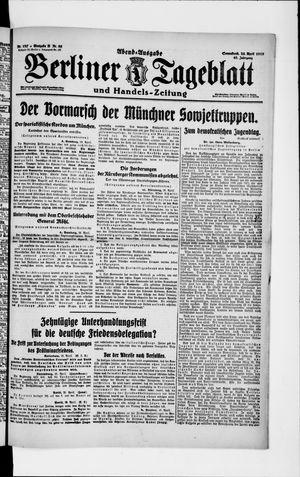 Berliner Tageblatt und Handels-Zeitung vom 26.04.1919