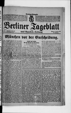 Berliner Tageblatt und Handels-Zeitung vom 28.04.1919