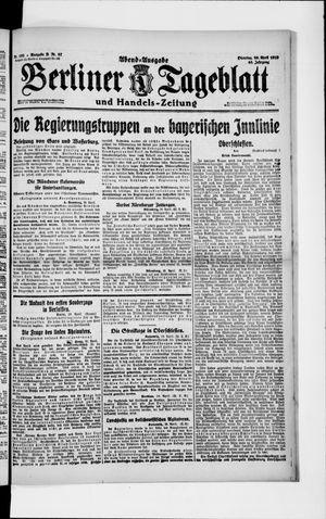 Berliner Tageblatt und Handels-Zeitung vom 29.04.1919