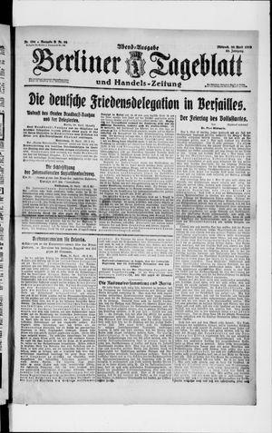 Berliner Tageblatt und Handels-Zeitung vom 30.04.1919