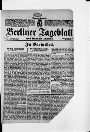 Berliner Tageblatt und Handels-Zeitung on May 1, 1919