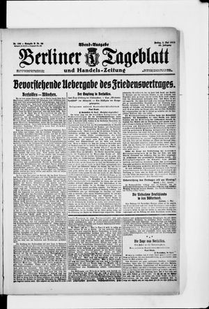 Berliner Tageblatt und Handels-Zeitung on May 2, 1919