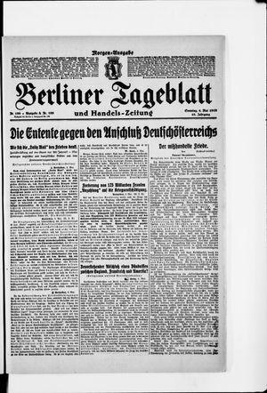 Berliner Tageblatt und Handels-Zeitung vom 04.05.1919