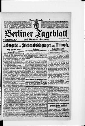 Berliner Tageblatt und Handels-Zeitung vom 06.05.1919