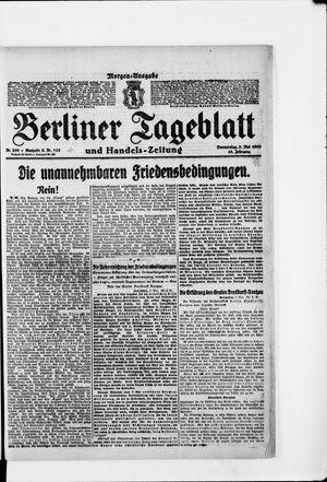 Berliner Tageblatt und Handels-Zeitung vom 08.05.1919