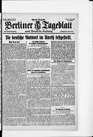 Berliner Tageblatt und Handels-Zeitung vom 09.05.1919