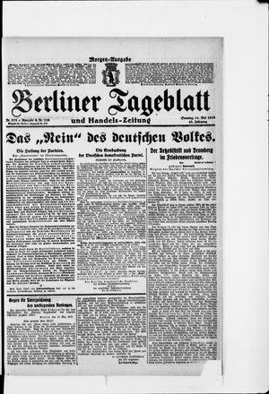 Berliner Tageblatt und Handels-Zeitung vom 11.05.1919