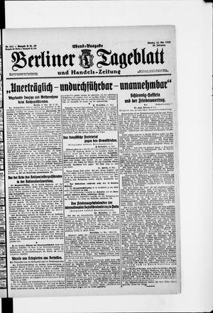 Berliner Tageblatt und Handels-Zeitung vom 12.05.1919