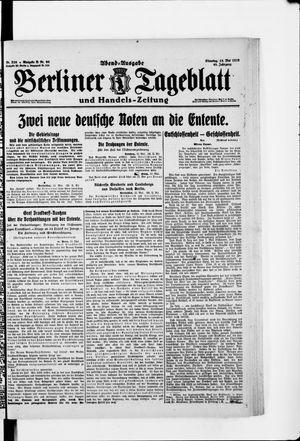 Berliner Tageblatt und Handels-Zeitung vom 13.05.1919